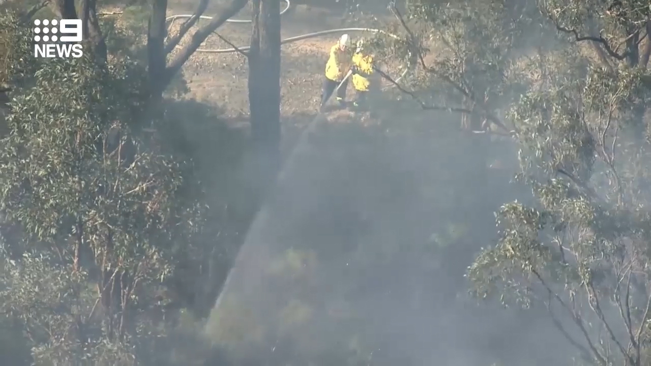 Bushfire burning in Sydney's west
