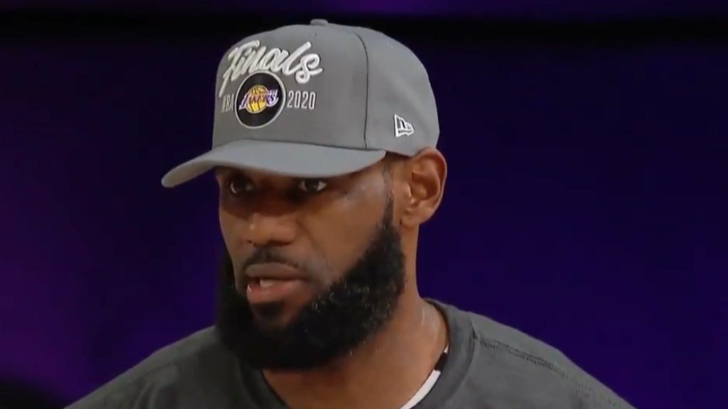 LeBron reacts to reaching NBA Finals again