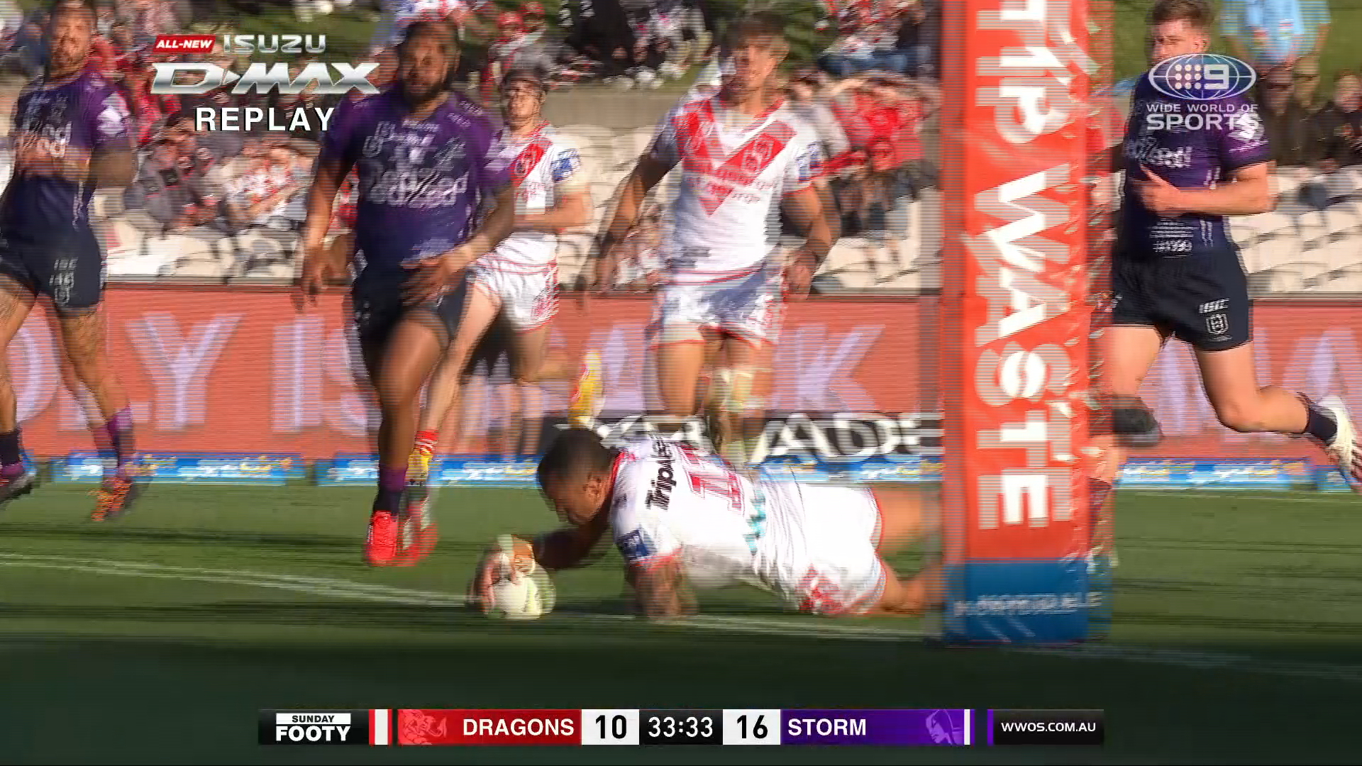 NRL Highlights: Dragons v Storm - Round 20