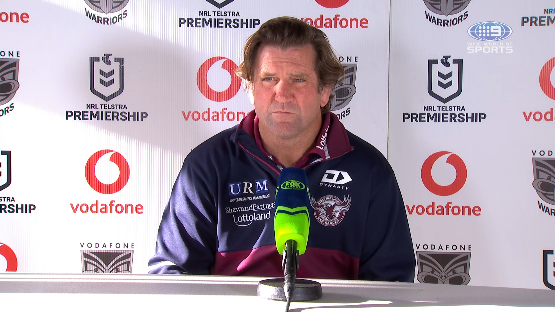 NRL Presser: Warriors v Sea Eagles - Round 20: Des Hasler
