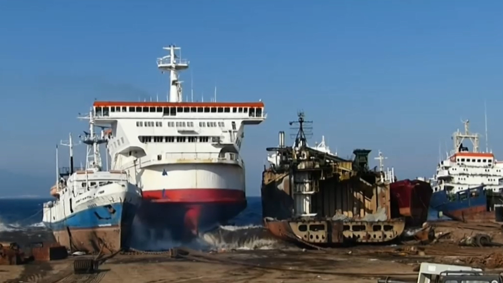 Cruise ships being retired on coast of Turkey