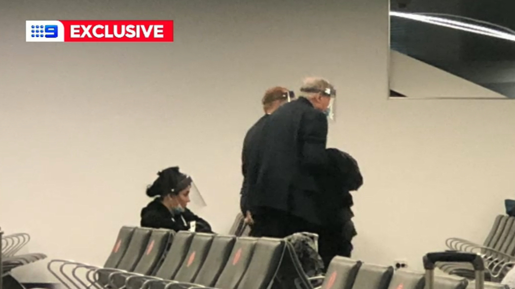 Cardinal George Pell on flight to Rome