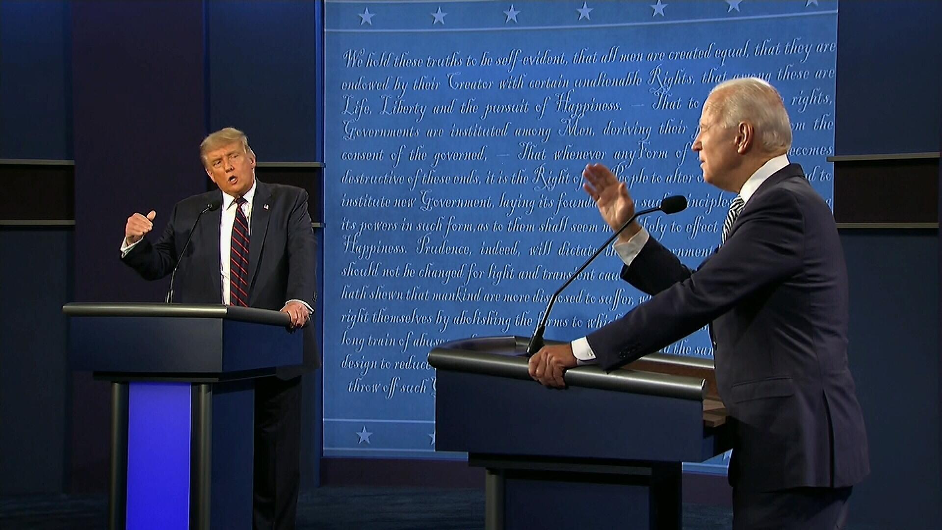 Biden to Trump: 'Will you shut up, man?'