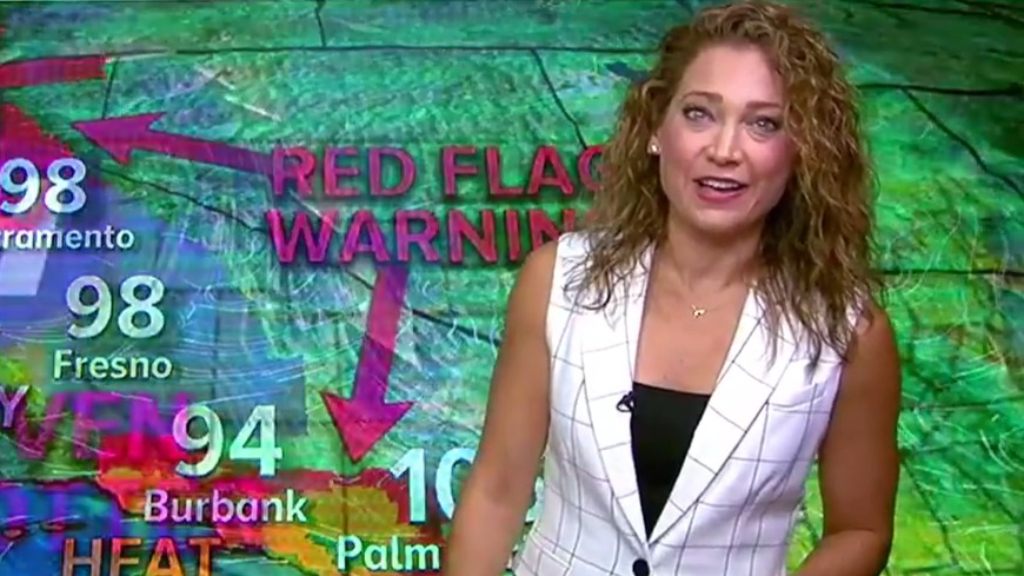 GMA weather presenter Ginger Zee adorably interrupted by her son, again
