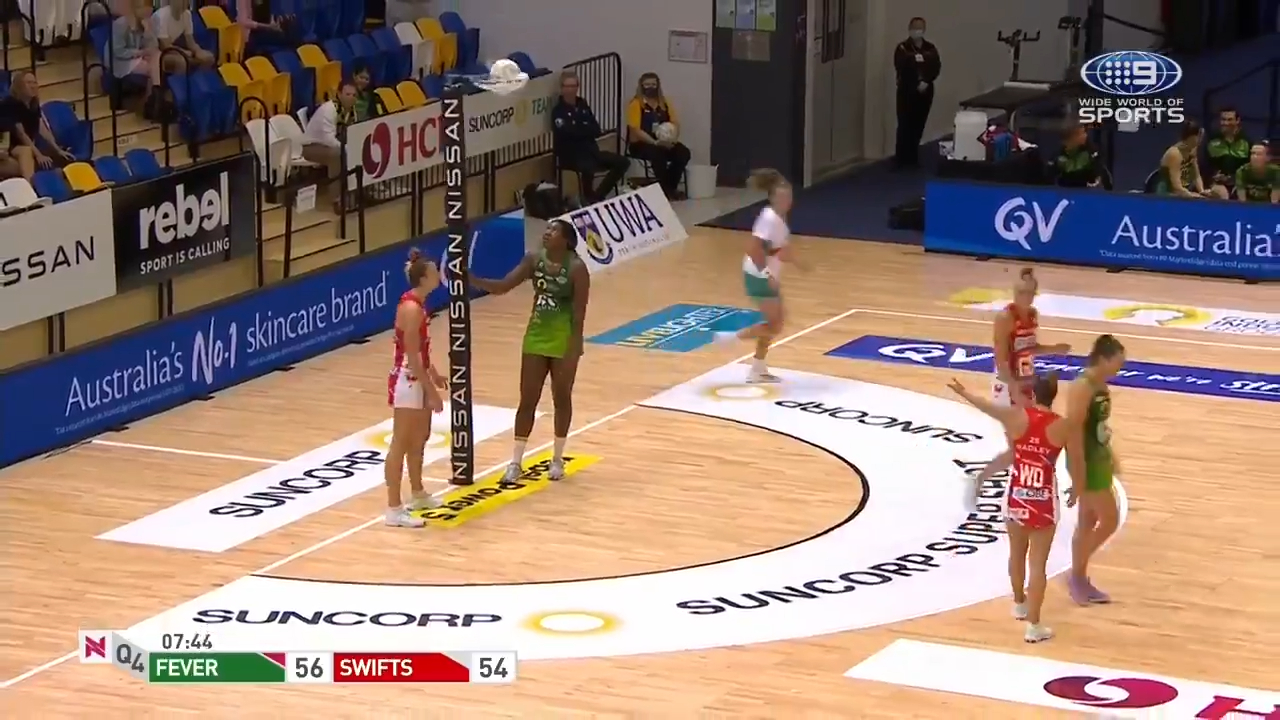 'Terrible' net mishap in Super Netball clash