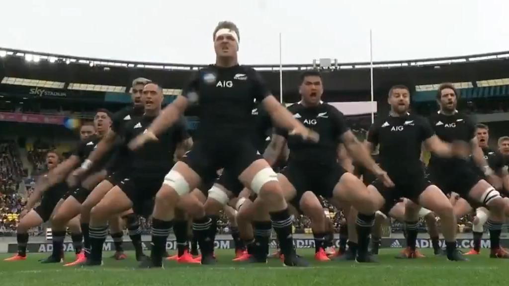 All Blacks perform stirring Haka