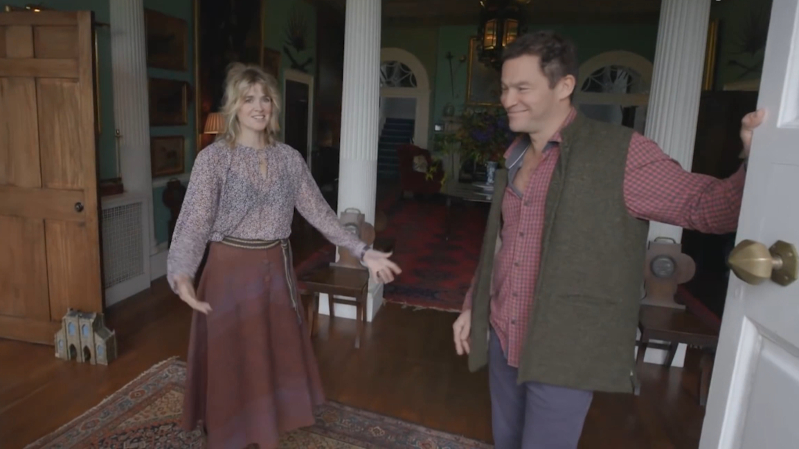 Dominic West and Catherine FitzGerald give a tour of her ancestral home