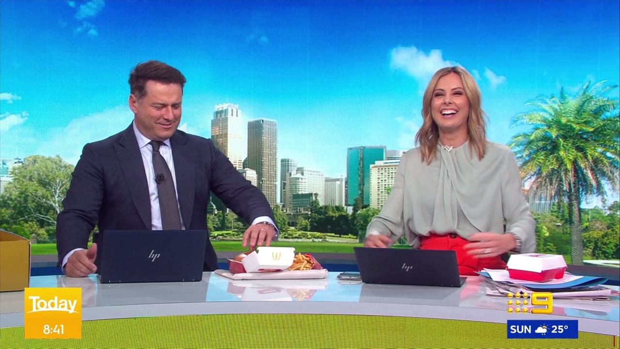 Karl taste-tests new Macca's chicken parmi burger