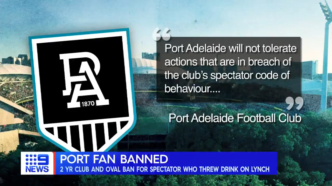 Port fan's membership slashed after Lynch incident