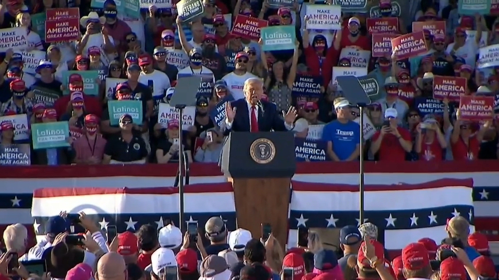 US Election 2020: Trump meets crowds in Arizona