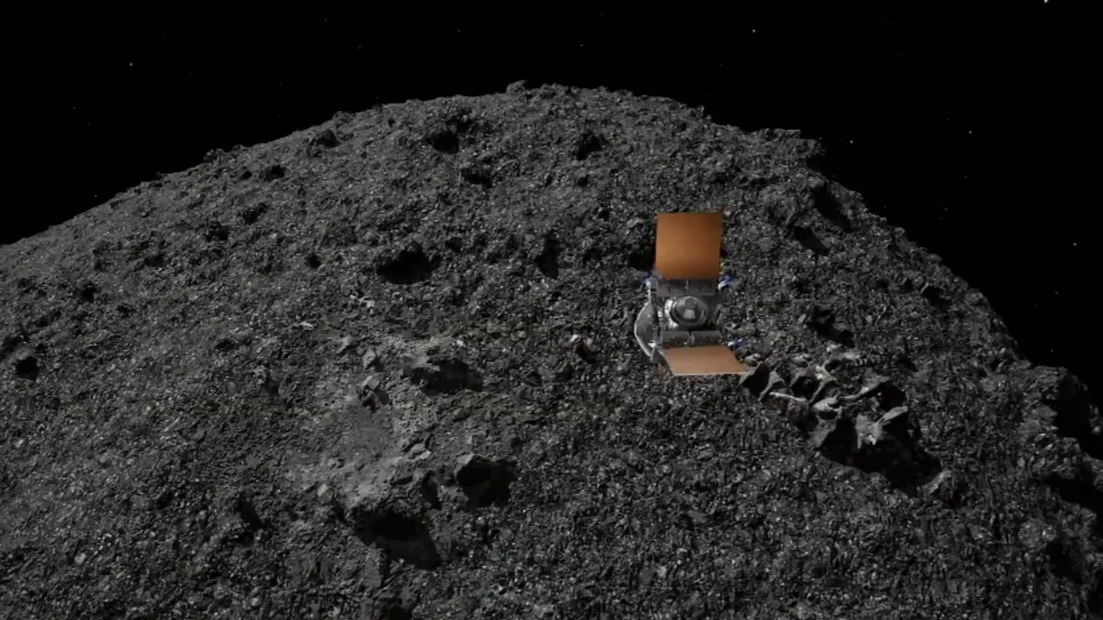 NASA spacecraft lands on asteroid