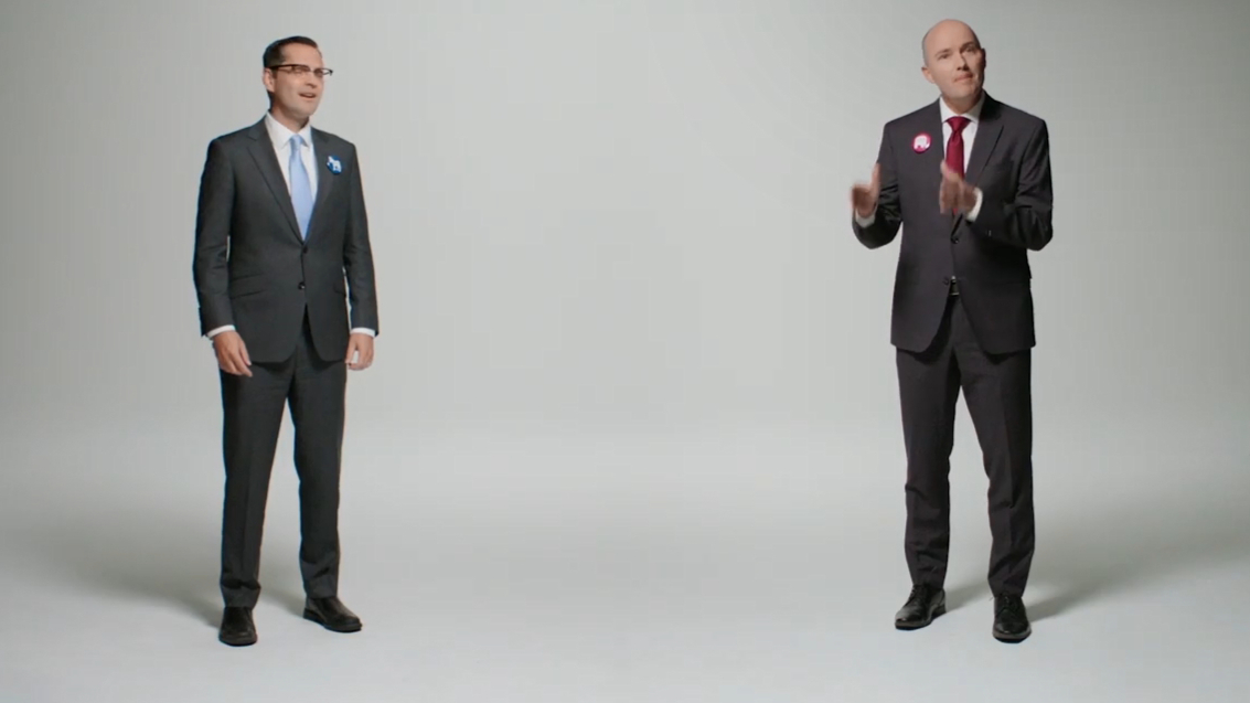 Utah gubernatorial candidates make ad together