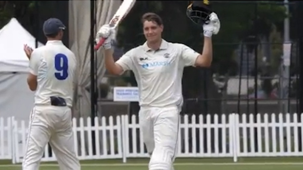 Green reaches century against New South Wales