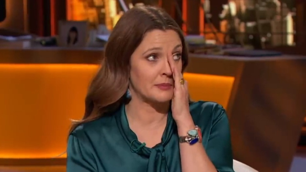 Drew Barrymore cries on air as she talks to a psychic