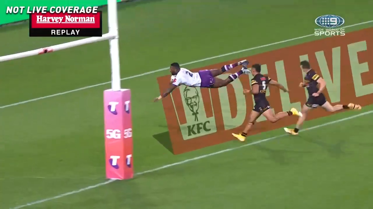 Vunivalu scores ripping try off intercept