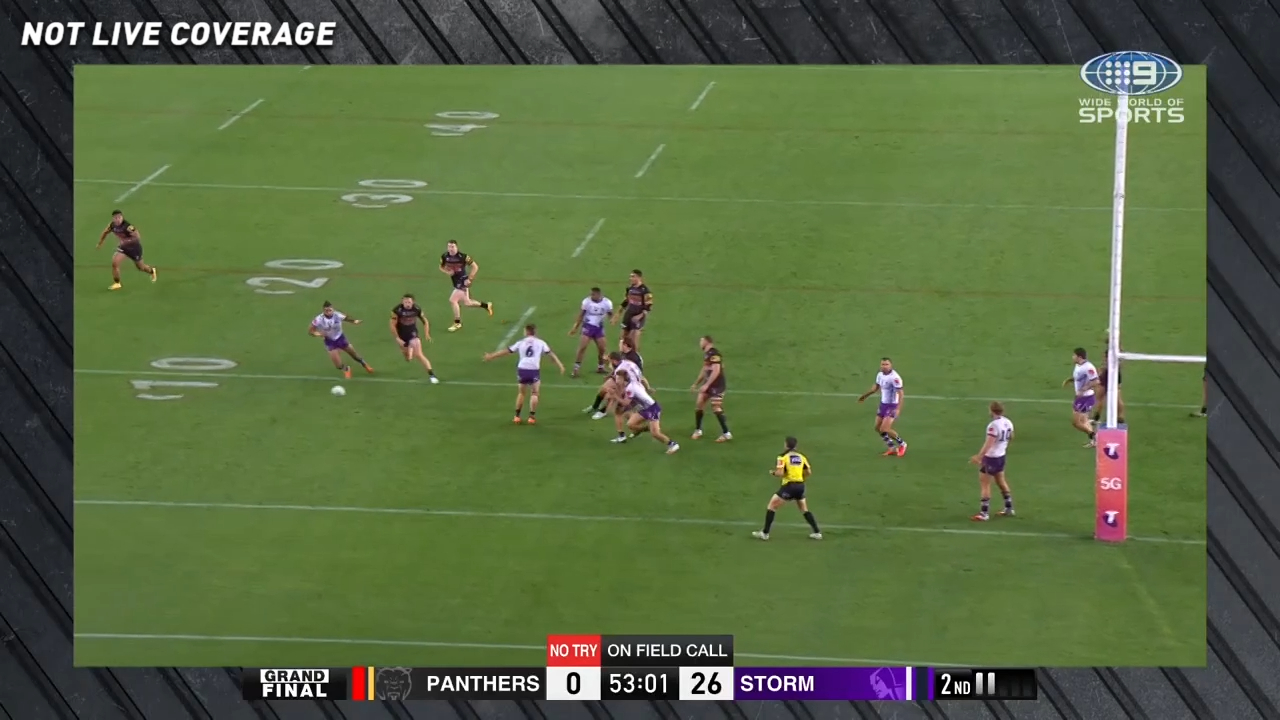 Panthers score controversial try