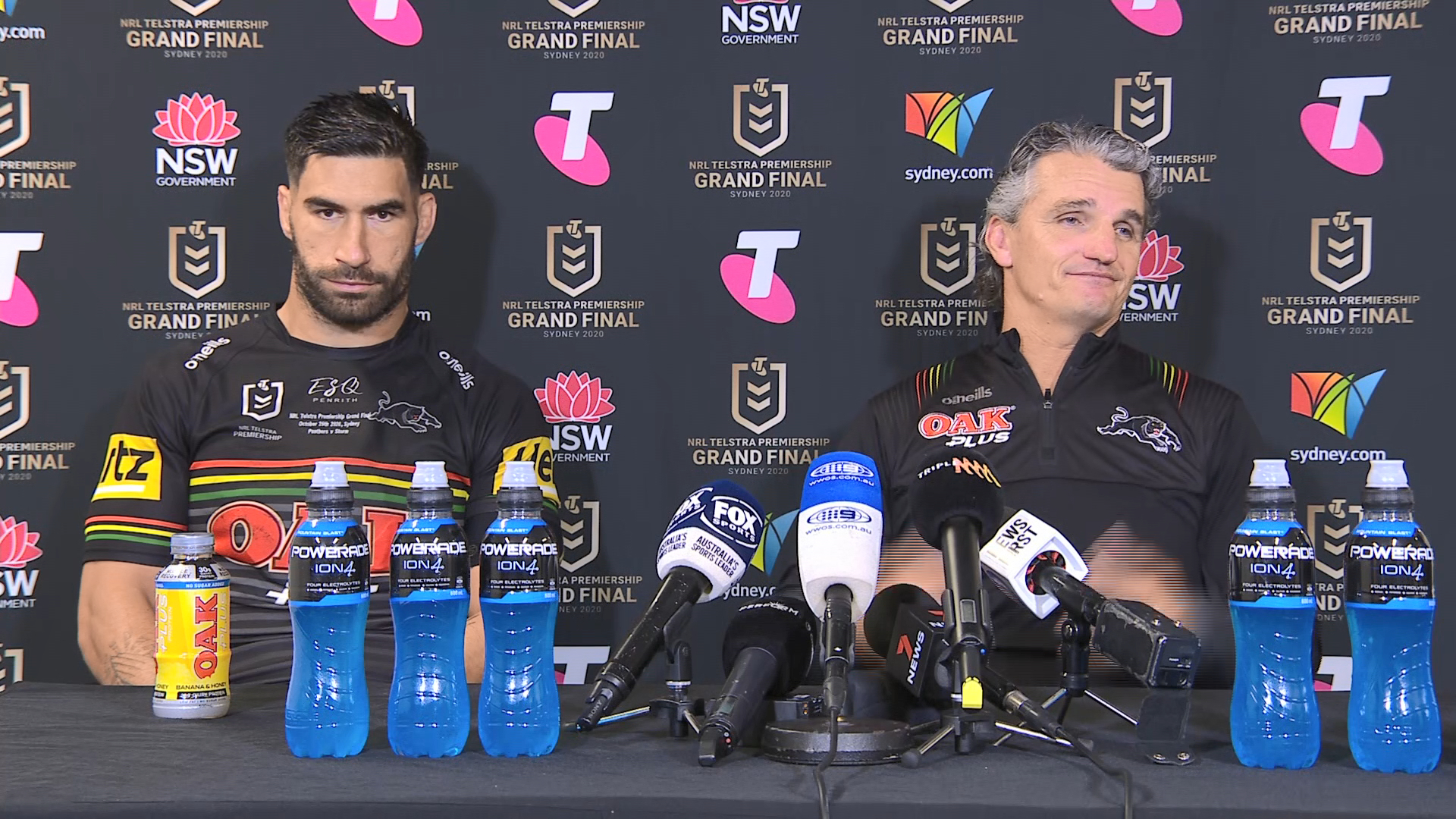 Panthers v Storm Grand Final Presser: Ivan Cleary & James Tamou