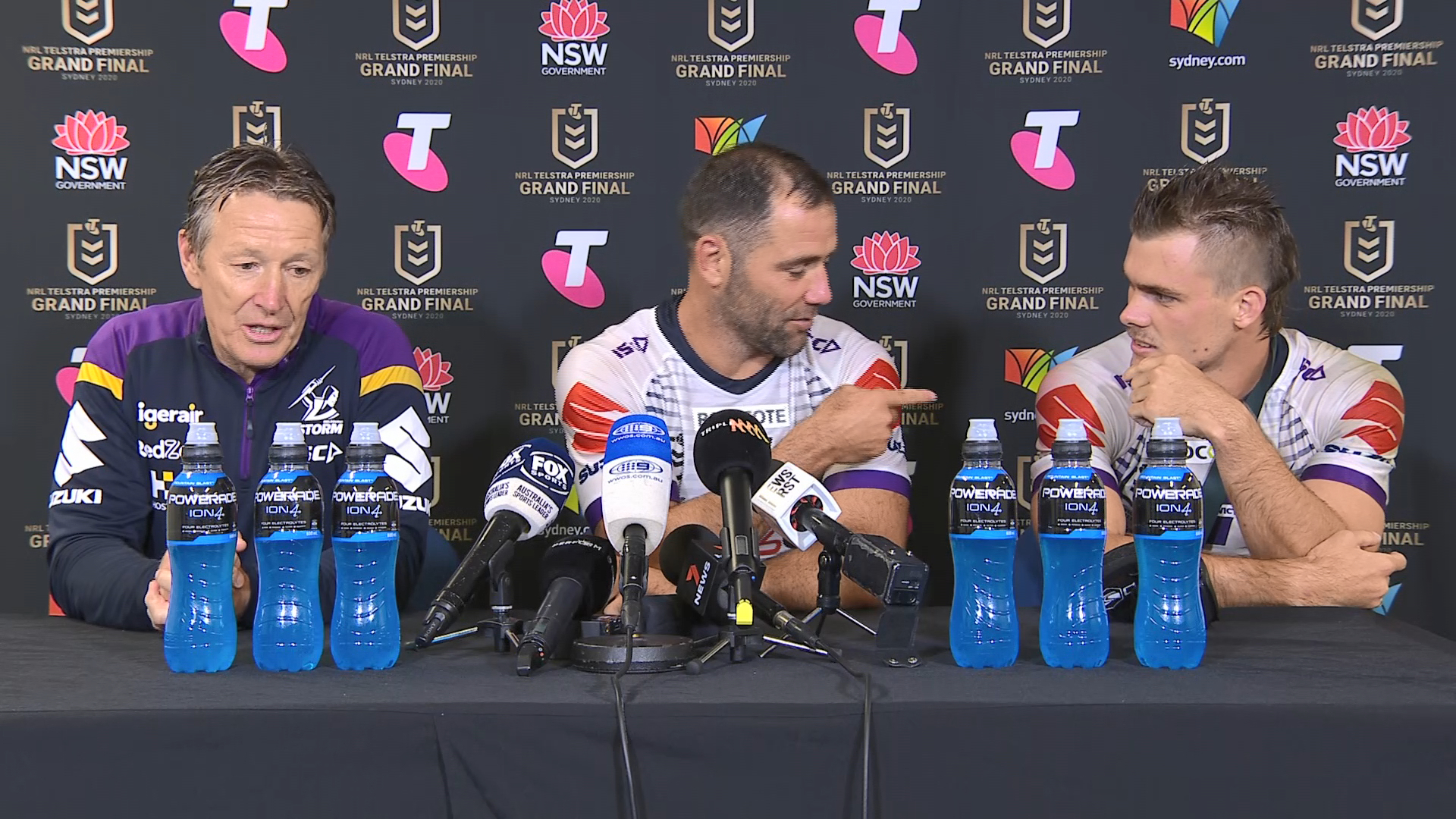 Panthers v Storm Grand Final Presser: Craig Bellamy, Cameron Smith & Ryan Papenhuyzen