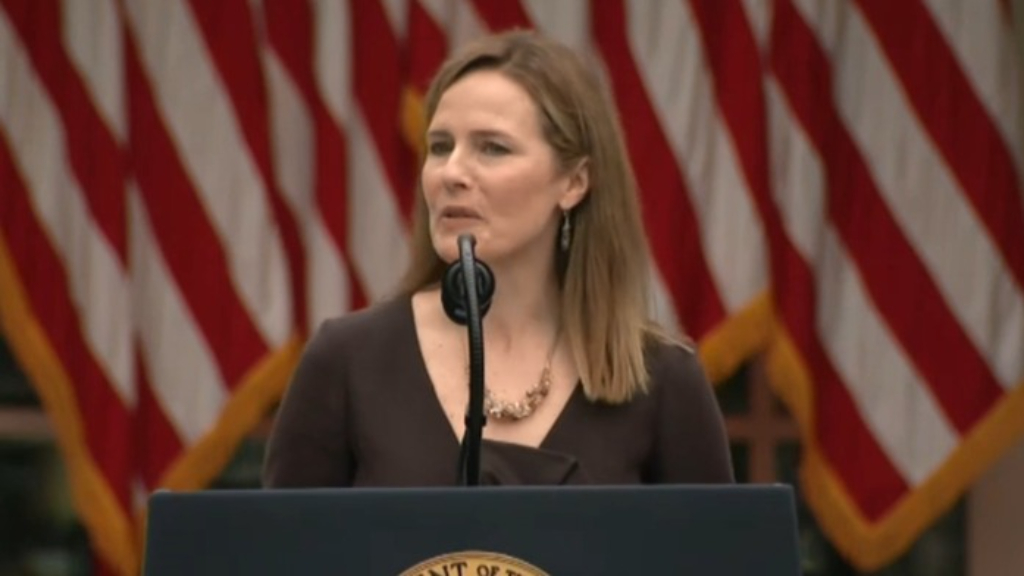 Amy Coney Barrett appointed to US Supreme Court