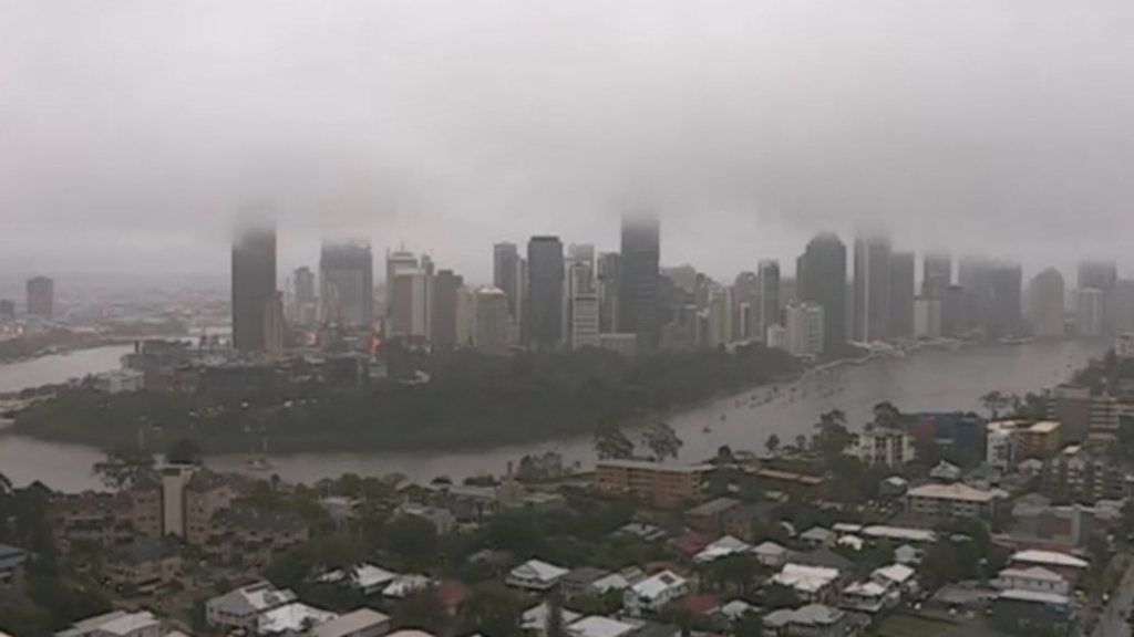Brisbane hit with torrential rain and flash flooding