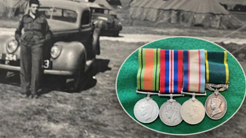Stolen war medals returned after 50 years