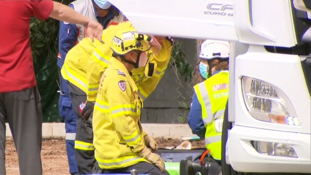 Person 'crushed' by truck in south-west Sydney