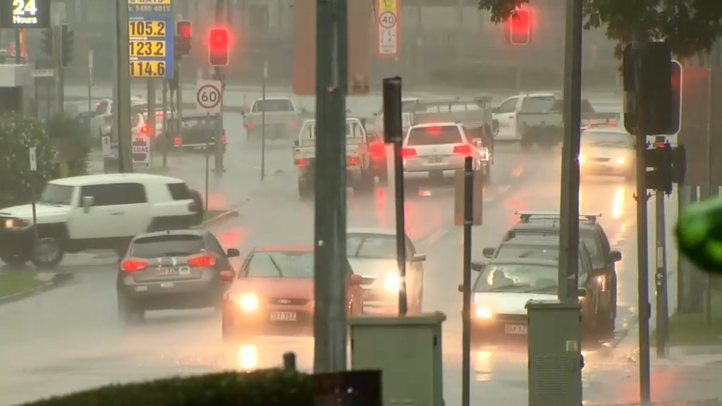 Second day of wild weather in south-east Queensland