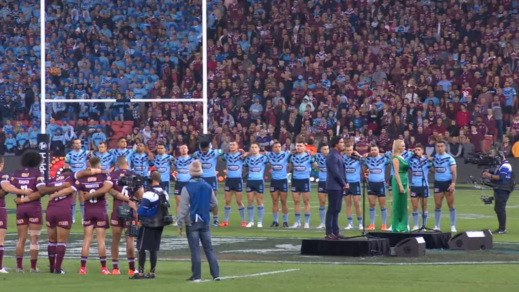 NRL backflips on plans to scrap State of Origin national anthem