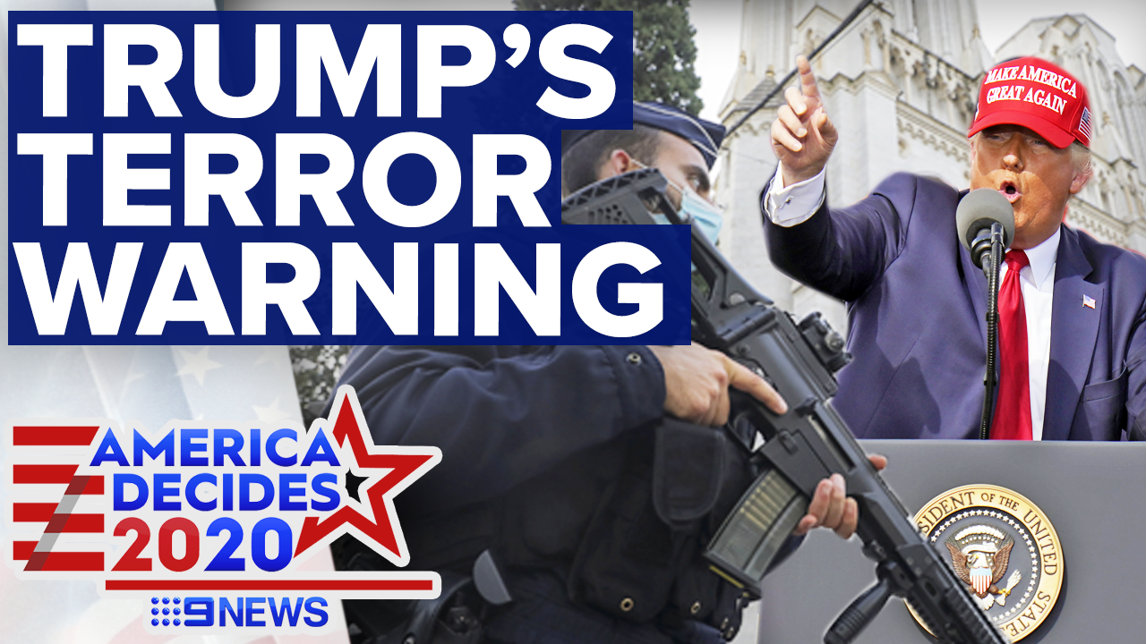 Trump claims Biden would open floodgates to Islamic terrorism