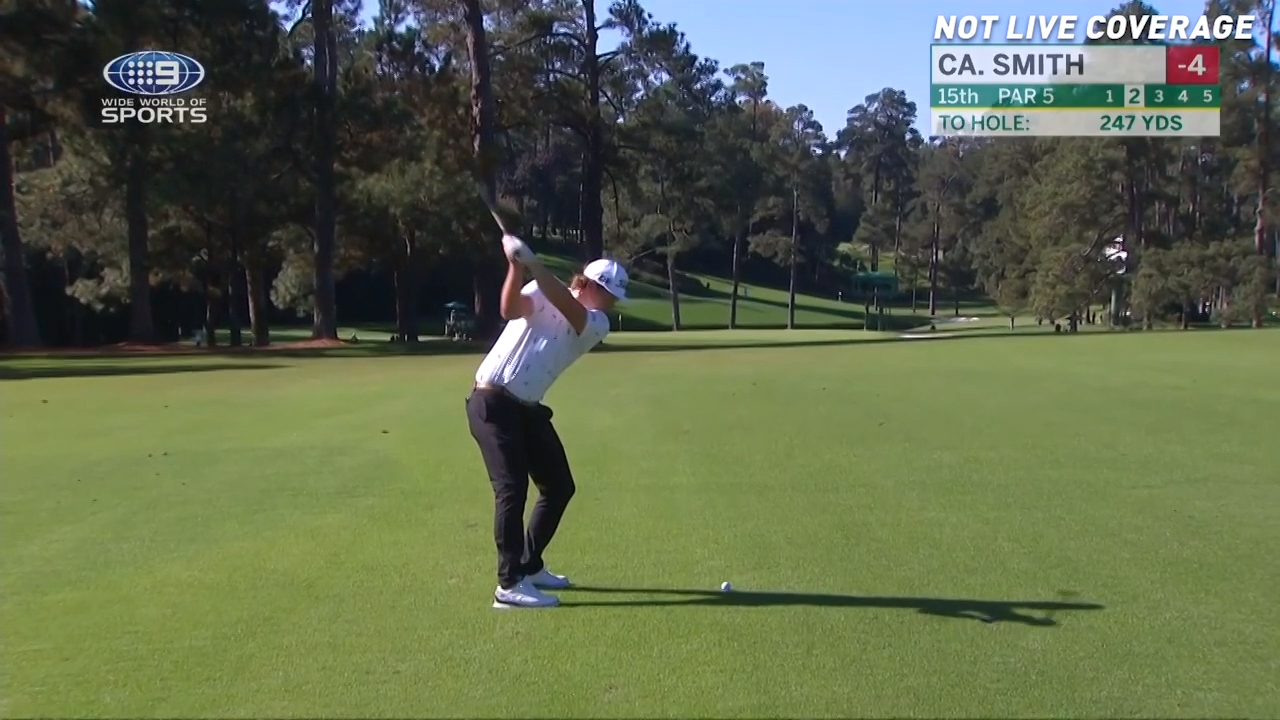 Cameron Smith bags first eagle at the Masters