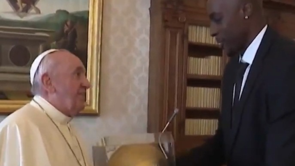 NBA players meet the Pope