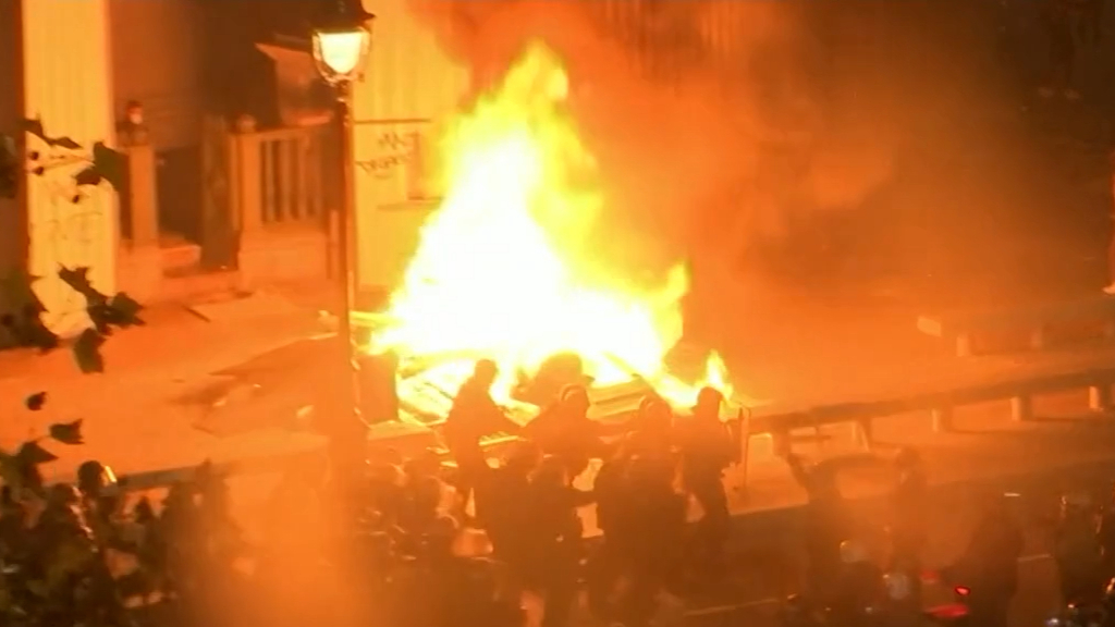 Paris protests over new security law