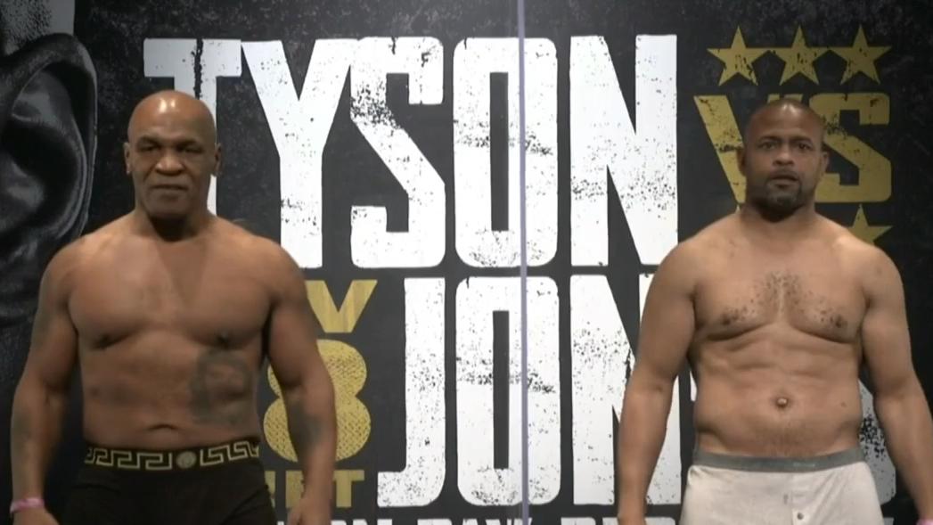 Tyson and Jones Jr face off