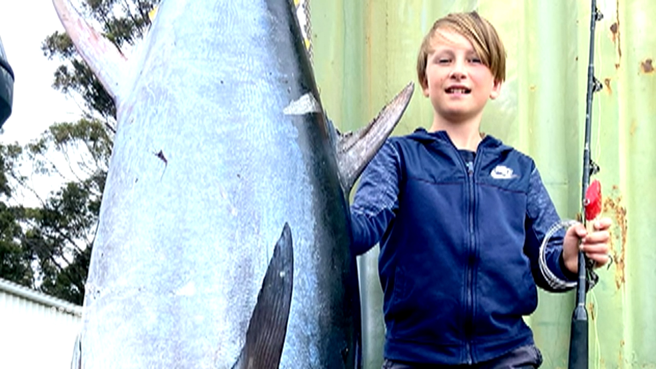 Young fisherman makes record breaking haul