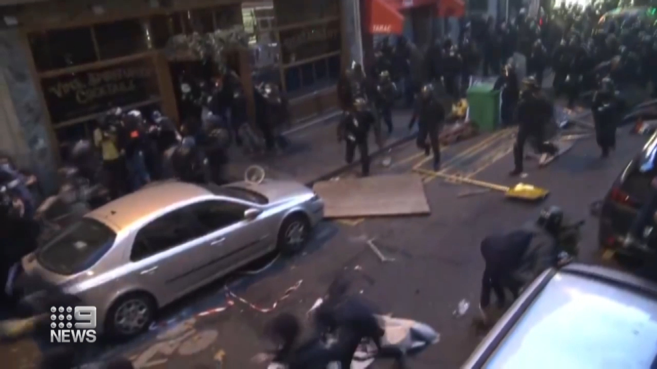 Protestors go head-to-head with police in Paris
