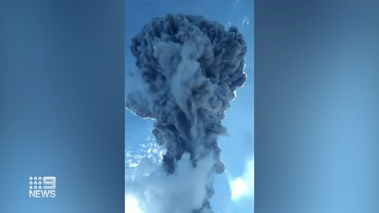 Thousands evacuated as volcano erupts in Indonesia