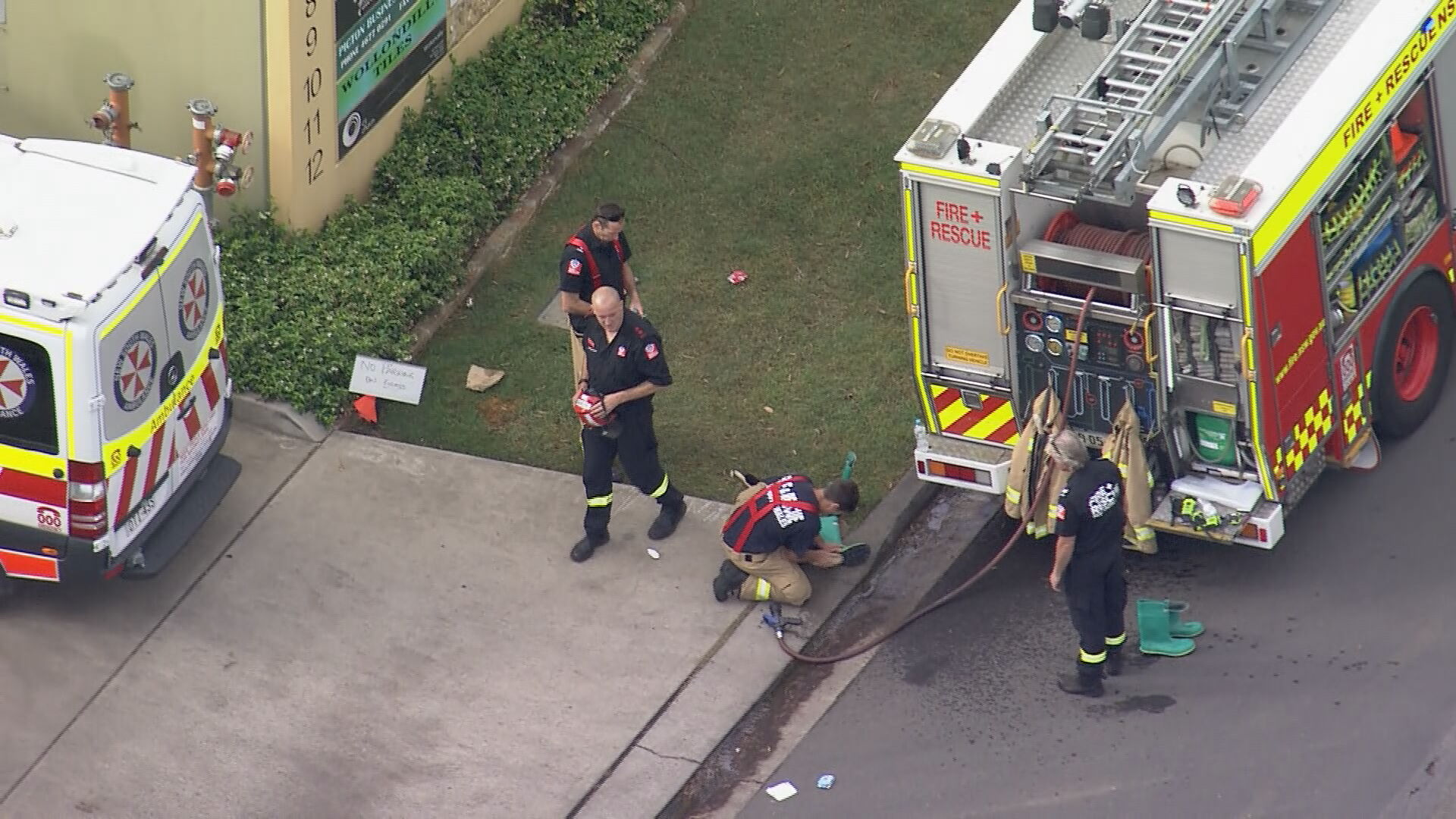 Man hospitalised after chemical spill in Sydney's south west