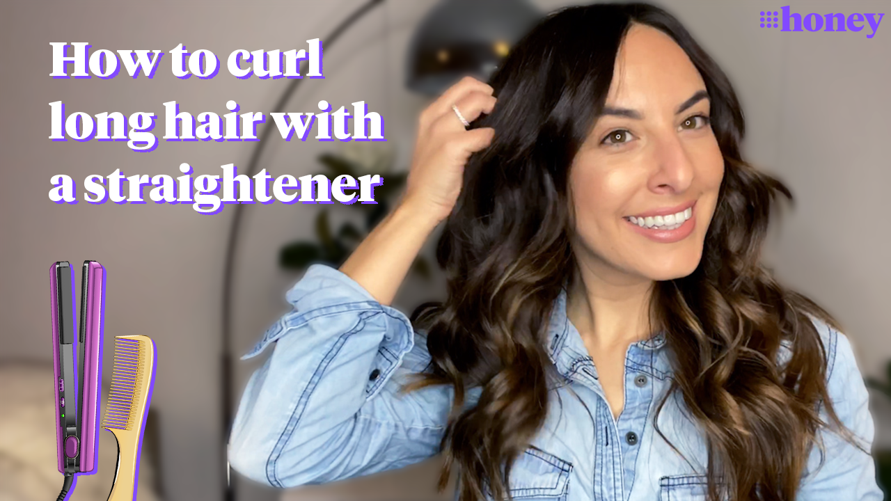 How to curl long hair with a straightener