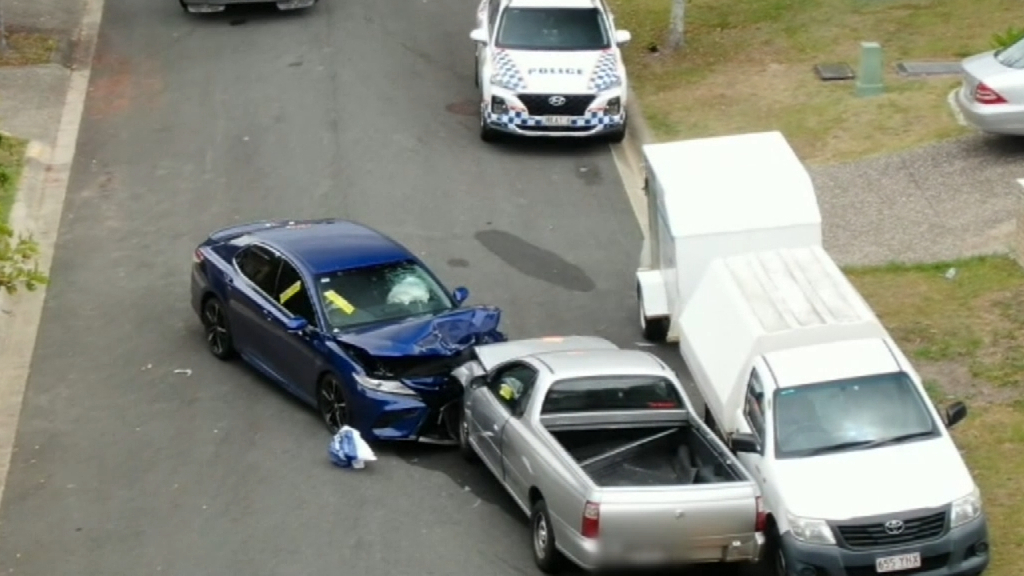 Police officer hospitalised after stolen vehicle collides with cop car