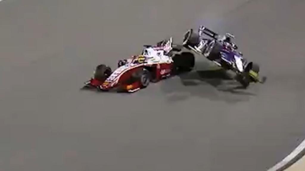 Schumacher in F2 crash