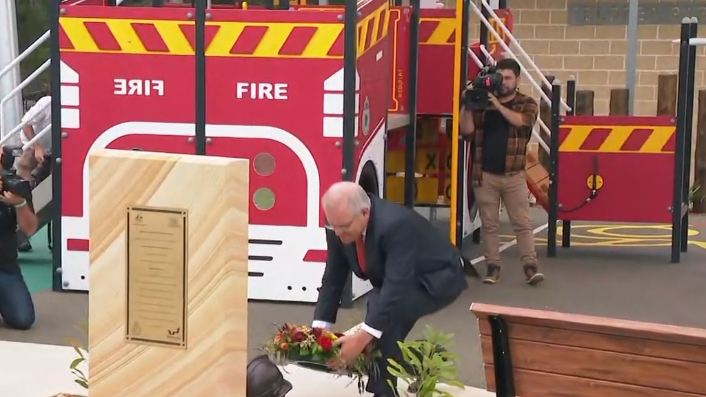 Memorial playground honours fallen firefighters