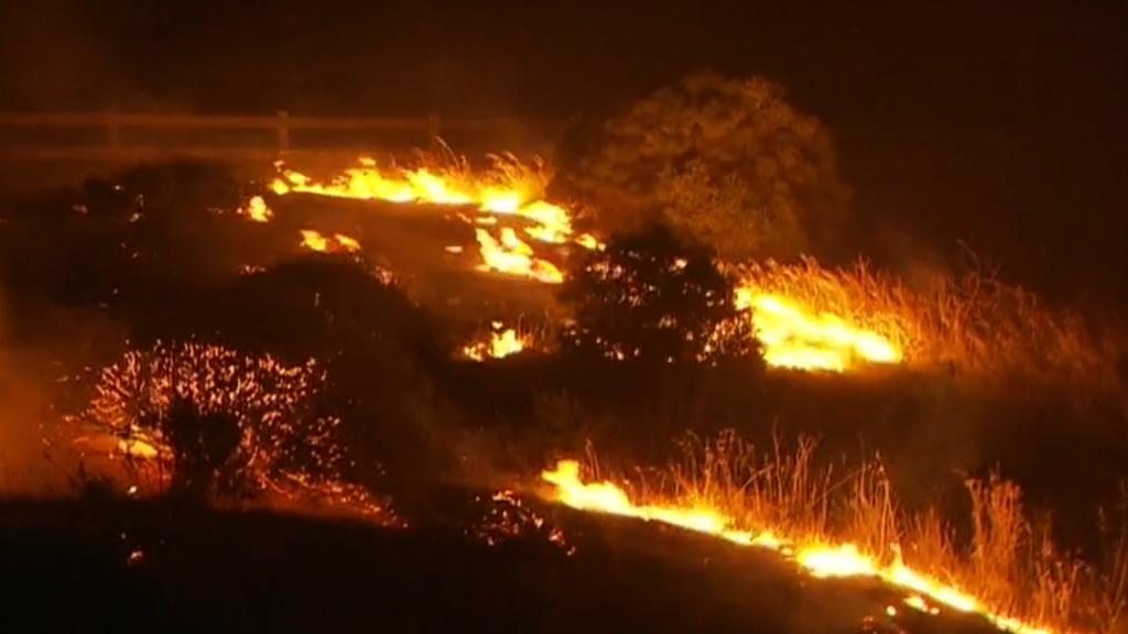 Adelaide grass fire burns close to homes