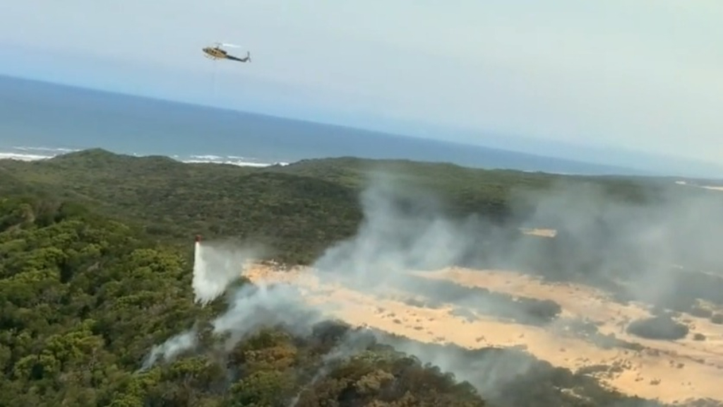 Water bombers attempting to contain Fraser Island blaze