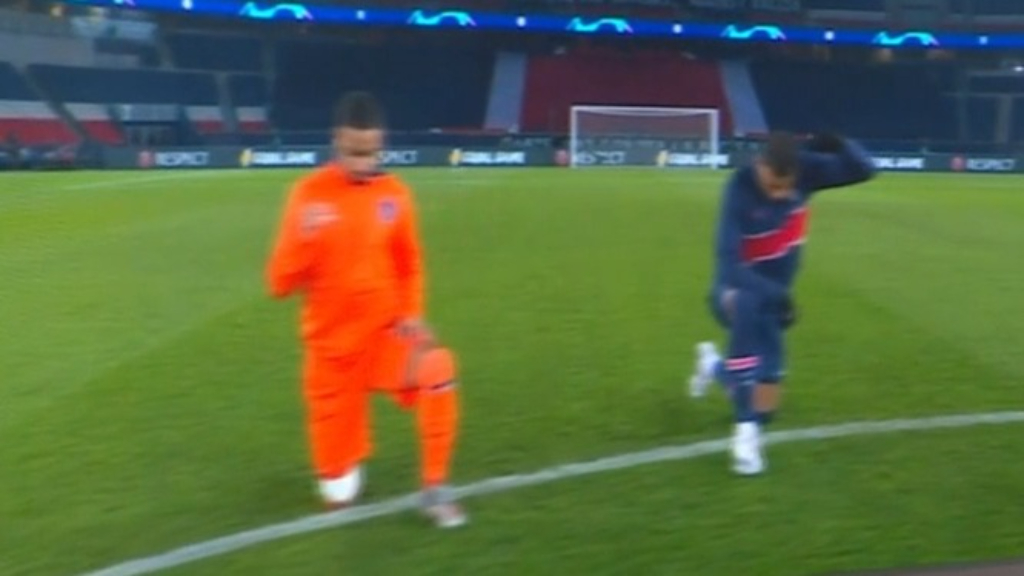Knee taken as UCL match resumes after walk-off