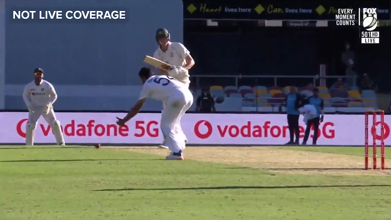 Shardul drops his own ball