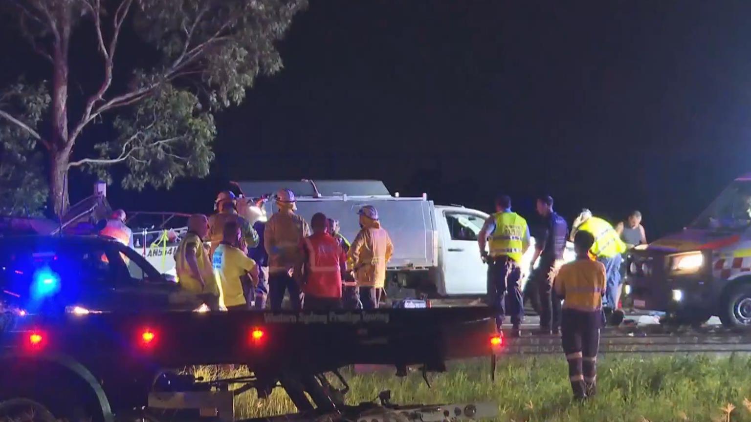 Four men injured in M7 car crash