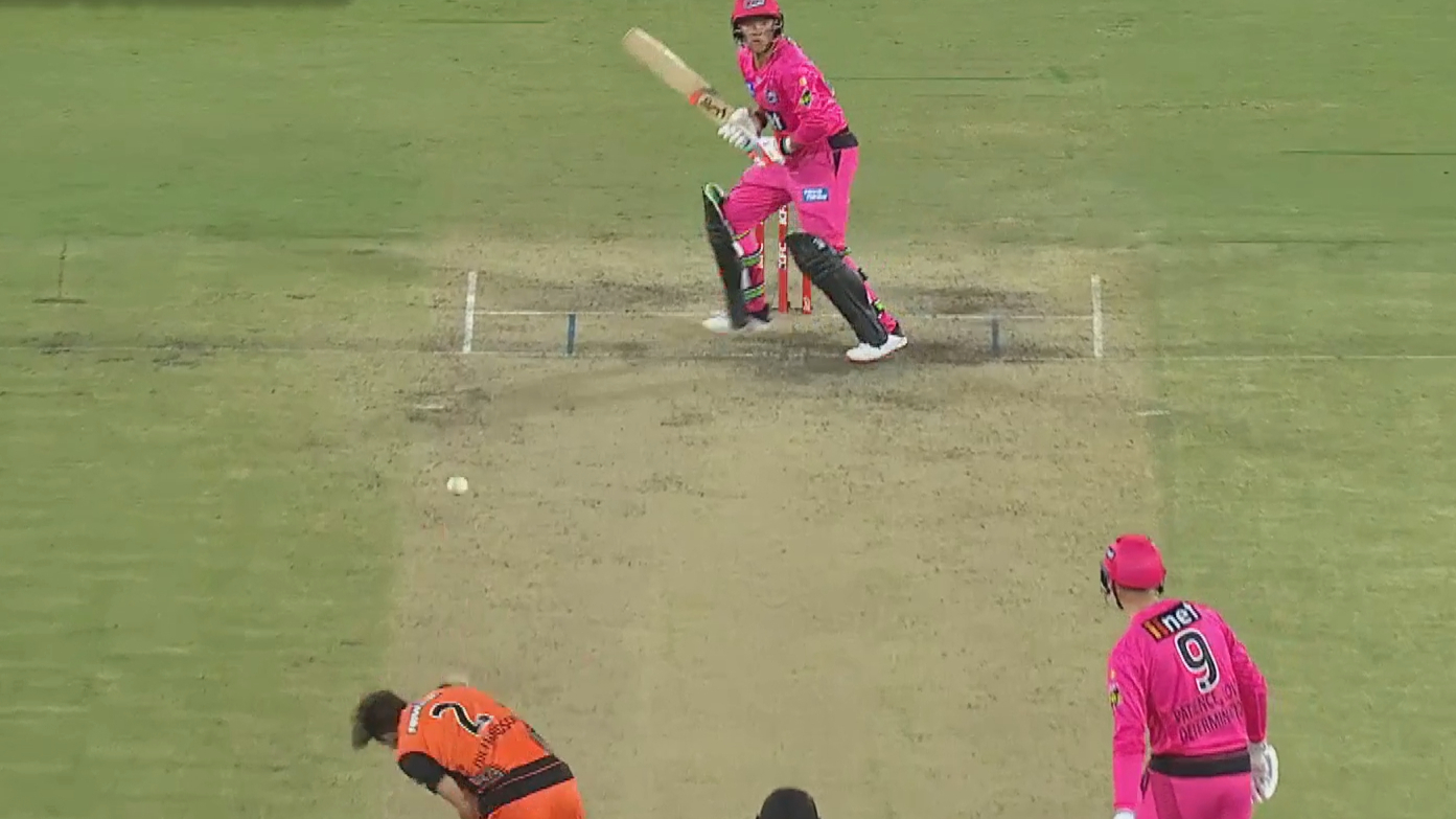 Scorchers star ends spectacular knock of Sixers young gun