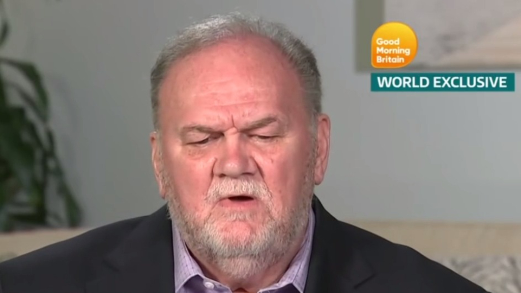 Thomas Markle Snr to make documentary about daughter Meghan