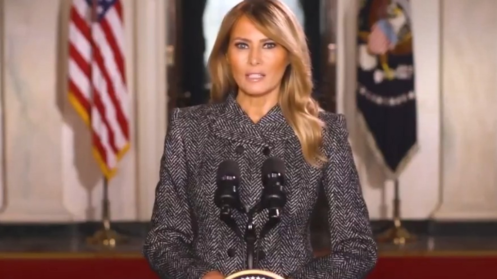 First Lady Melania Trump makes farewell address