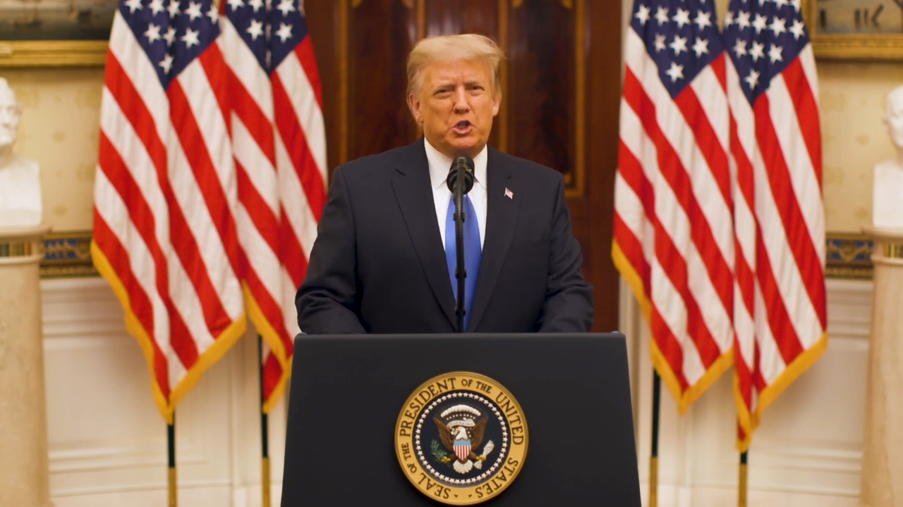 US President Donald Trump farewell address